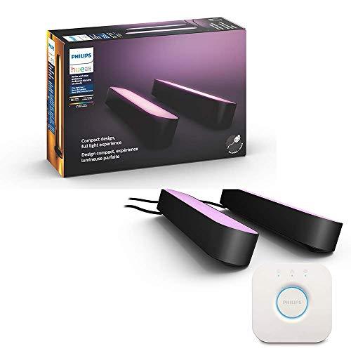 【日本正規品】Philips Hue Play ライトバー スターターセット |バータイプLEDライト2個+Hueブリッジ|ゲーミングライト|