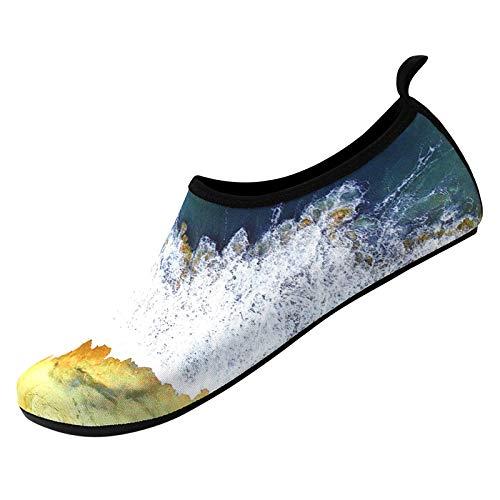 Unisex Badeschuhe Herren Schwimmschuhe Damen Schnell Trocken Wasserschuhe Outdoor Aqua Schuhe Schwimmschuhe Strandschuhe Surfschuhe Aquaschuhe Barfuß Badeschuhe für Wassersport Beach Pool Surfen Yoga
