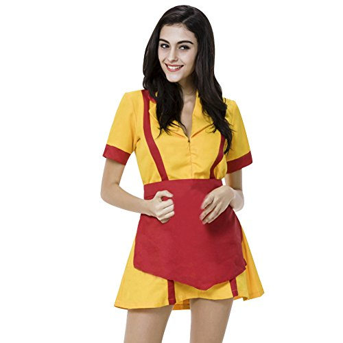 LSERVER-Costume 2 Broke Girls Cosplay,Abito Ragazze Costume