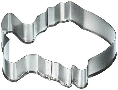 R & M Tropical Fish Tinplated Cookie Cutter, 3.5-Inch, Silver