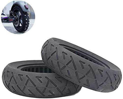 RZiioo Pneus de Scooter électrique, pneus Pleins Creux de 10 Pouces 10X2.25/2.50 pneus pneumatiques gratuits pneus antidéflagrants de Scooter électrique,10 * 2.5
