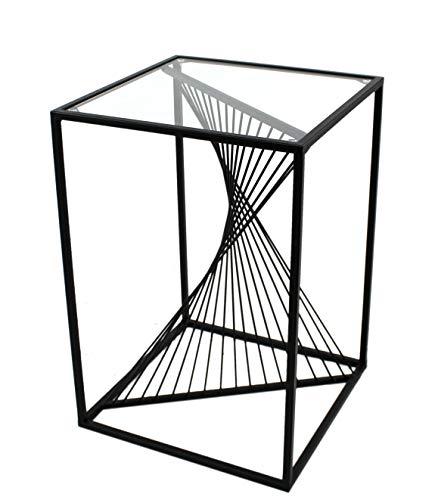 DARO DEKO Metall 3D Design Möbel schwarz Beistelltisch 40 x 58cm