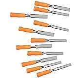 Stechbeitel Set 11 Stück Holzmeißel 50# Stahl Holzmeißel Stechbeitel Set für die Holzschnitzerei...