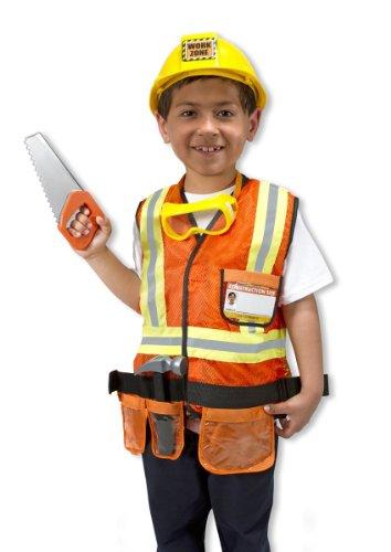 Travailleur : Jeu de Construction-Costume-Taille Standard : 121