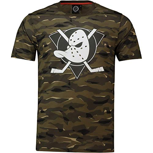 NHL T-Shirt Anaheim Mighty Ducks Digi Camo Camouflage Logo Eishockey (XL)