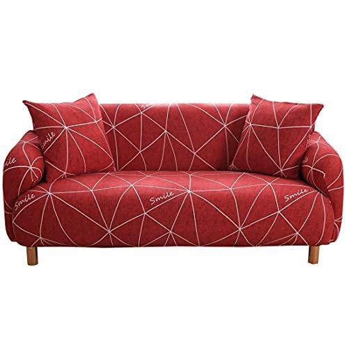 Funda de sofá con Estampado de Hojas Pastoral Sofá en Forma de L Sofá de Diferentes Formas Sofá de Dos plazas Sala de Estar Dormitorio Oficina A15 2 plazas