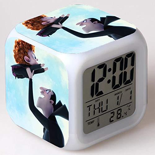 Wizard Hostel Alarm Clocks Kids LED Clock Cartoon Night Light Flash 7 Color Changing Digital Clock Electronic Desk Clock,Style 22, Birthday