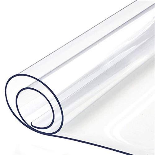 Gaetooely Klares Schreibtisch Pad, Rutschfeste Strukturierte PVC Schreib Matte für Weiche Schreibtische - Schreibtisch Schutz mit Runden Kanten