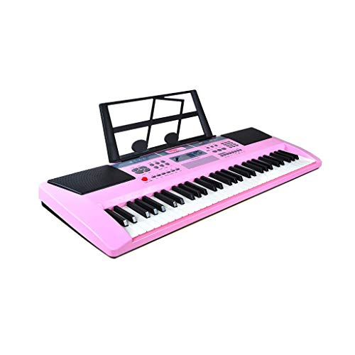 Digitale piano Keyboard Kinderspeelgoed Music Instrument Beginner Multi-functie Piano 3-6 Years Old 61 toetsen (Kleur: zwart, Maat: B) (Color : Pink, Size : C)