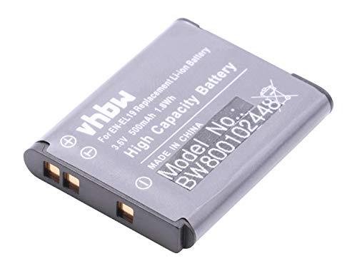 vhbw Li-Ion Akku für Nikon CoolPix S2500, S2600, S2700, S3100, S3200, S3500, S4100, S4200, S5200, S6500 wie EN-EL19, EN-EL 19.