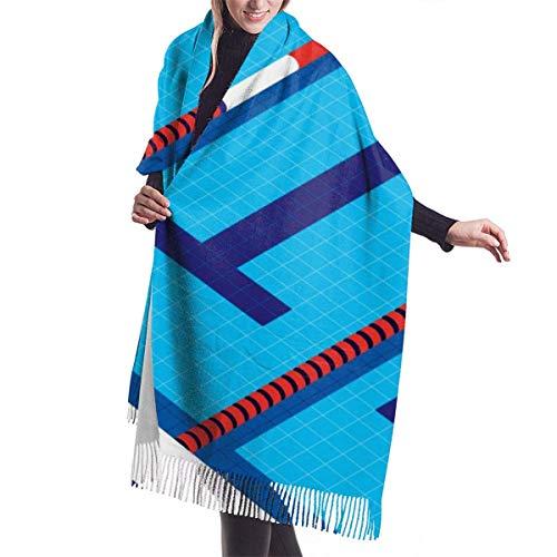 MISS-YAN Schöner Swimmingpool Damenmode Langer Schal Big Size-Winter-warmen Lattice Großer Schal