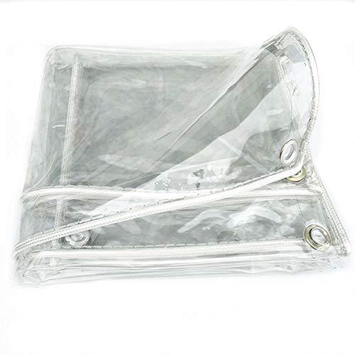 ADELALILI Lonas Tarpa Transparente Clear Cubierta Prueba Agua Patio Cortin del JardíN Al Aire Libre con Ojales (Color : C, Tamaño : 4x6m/13x19.7ft)