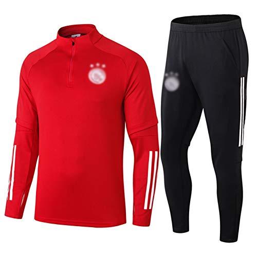 FIFE AJǎX Herren Fussball Trikots Set - Fußballtrainings Trainingsanzug Langarm Laufen Sportbekleidung Uniformen S