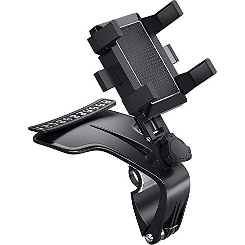 Soporte Móvil Coche ZWRY Soporte para teléfono para el Tablero de Instrumentos Soporte para teléfono móvil de 360 Grados Espejo retrovisor Visera para el Sol en el Soporte de navegación GPS