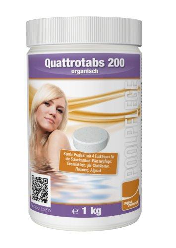 Steinbach Poolchemie Quattrotabs organisch, Aquacorrect, 200 g / 1 kg