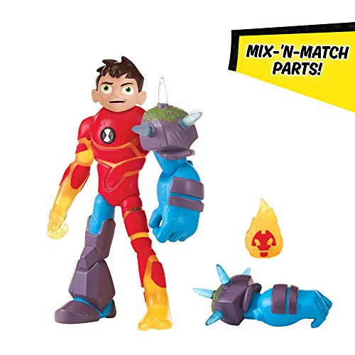 Ben 10 Omni-Glitch Heroes: Ben-Heatblast-Shock Rock