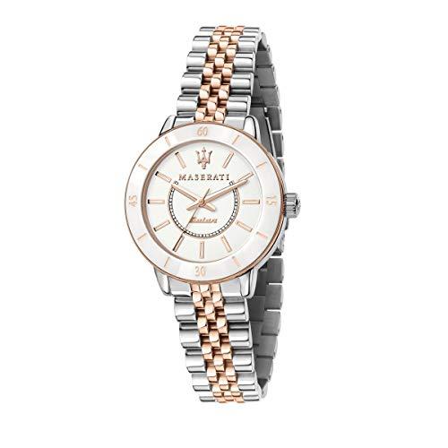 Maserati Reloj Mujer, Colección SUCCESSO Solar, Cuarzo, Solo Tiempo, en Acero, PVD Oro Rosa - R8853145504