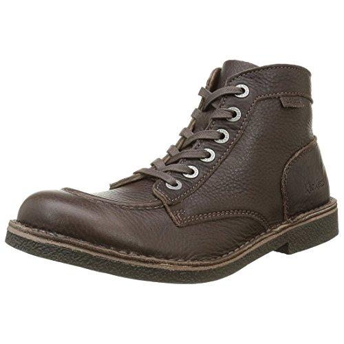 Kickers KICKSTONER, Zapatillas de Estar por casa para Hombre, Marrón (Marron Foncé 92), 43 EU