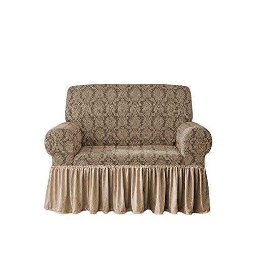 Sofabezug Irge Charlotte 2-, 3-, 4-Sitzer-Sofa, elastisch, Damast-Sofa (beige, Sessel)
