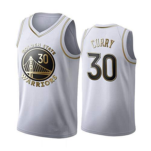 Fei Fei Golden State Warriors Curry #30 Camiseta de Baloncesto para Hombres Retro Chaleco de Gimnasia Top Deportivo Jerseys (Tamaño: S-XXL),2,XL