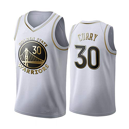 Fei Fei Golden State Warriors Curry #30 Camiseta de Baloncesto para Hombres Retro Chaleco de Gimnasia Top Deportivo Jerseys (Tamaño: S-XXL),2,M