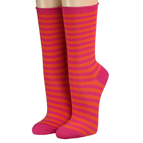 CRÖNERT Socken Longsocks Söckchen im Design Kieler Ringel Socken 18808 (35-38, pink)