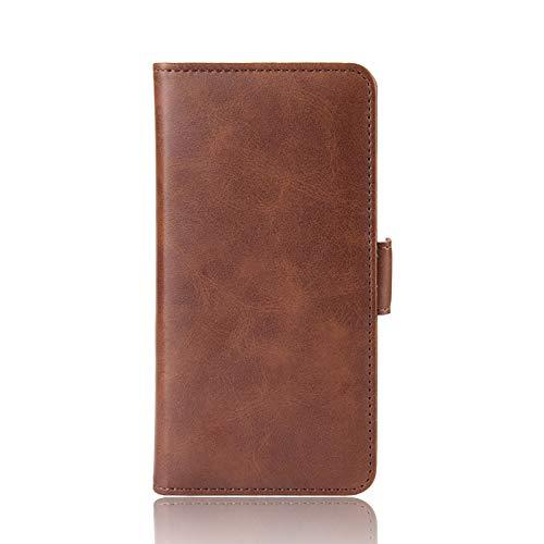 TOPOFU Handyhülle für Sony Xperia 10 III Hülle, Handytasche Schutzhülle mit Kartenfächer,Stark Magnetverschluss,PU/TPU Leder Brieftasche Flip Cover Hülle Hüllen-Braun