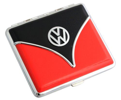 Volkswagen Zigaretten Etui Samba oder Käfer Design Verschiedene Farben (Samba-Schwarz-Rot)