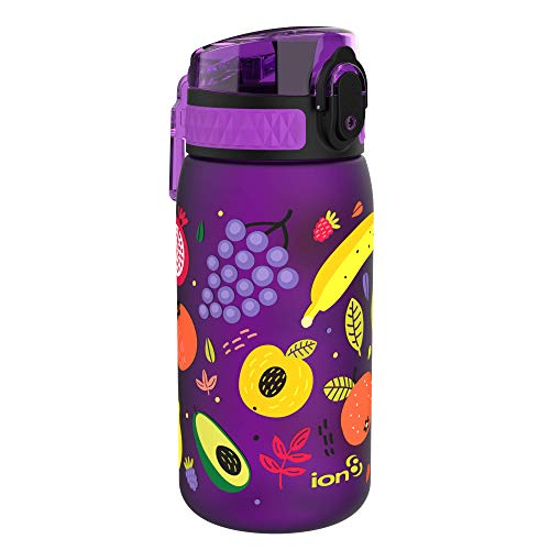 ion8 Botella Agua Niños Sin Fugas, Sin BPA, Frutas