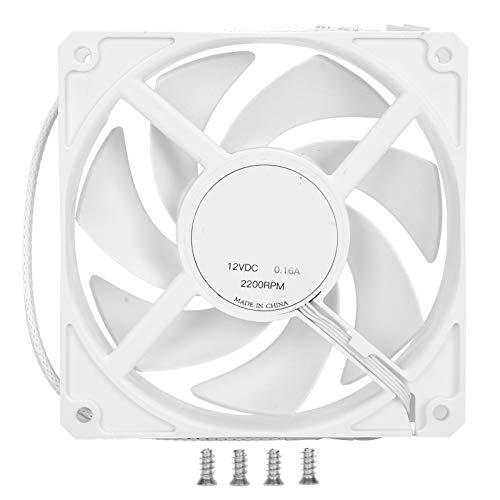 Ventilador de chasis F120-A, ventilador refrigerado por agua de bajo ruido, ventilador de chasis de computadora, ventilador de flotador magnético para PC, enfriador de escape silencioso(blanco)