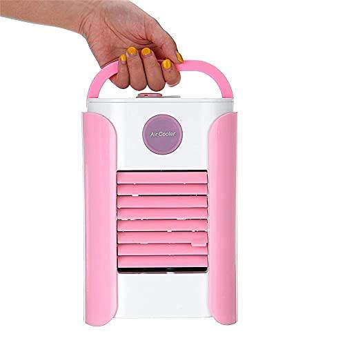 Climatización Refrigeradores evaporativos Aire acondicionado portátil, refrigerador de aire 7 colores LED Humidificador de Humidificador de refrigeración Soporte de refrigeración Bluetooth Altavoz 3 v