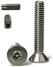 Torx w/Pin Tamper Proof Security Flat Cap Machine Screw 18-8 Stainless Steel - 6/32 x 1 (T-10) Qty-25
