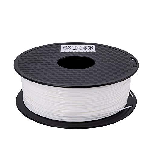 Creality 3D PLA Filament 1.75mm 1KG Carrete para impresora 3D - Blanco