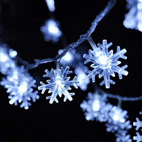 TYSYA LED kerstverlichting sneeuwvlokken binnen buiten batterij aangedreven licht kerstmis party thuis bruiloft tuin slinger festival decoratie