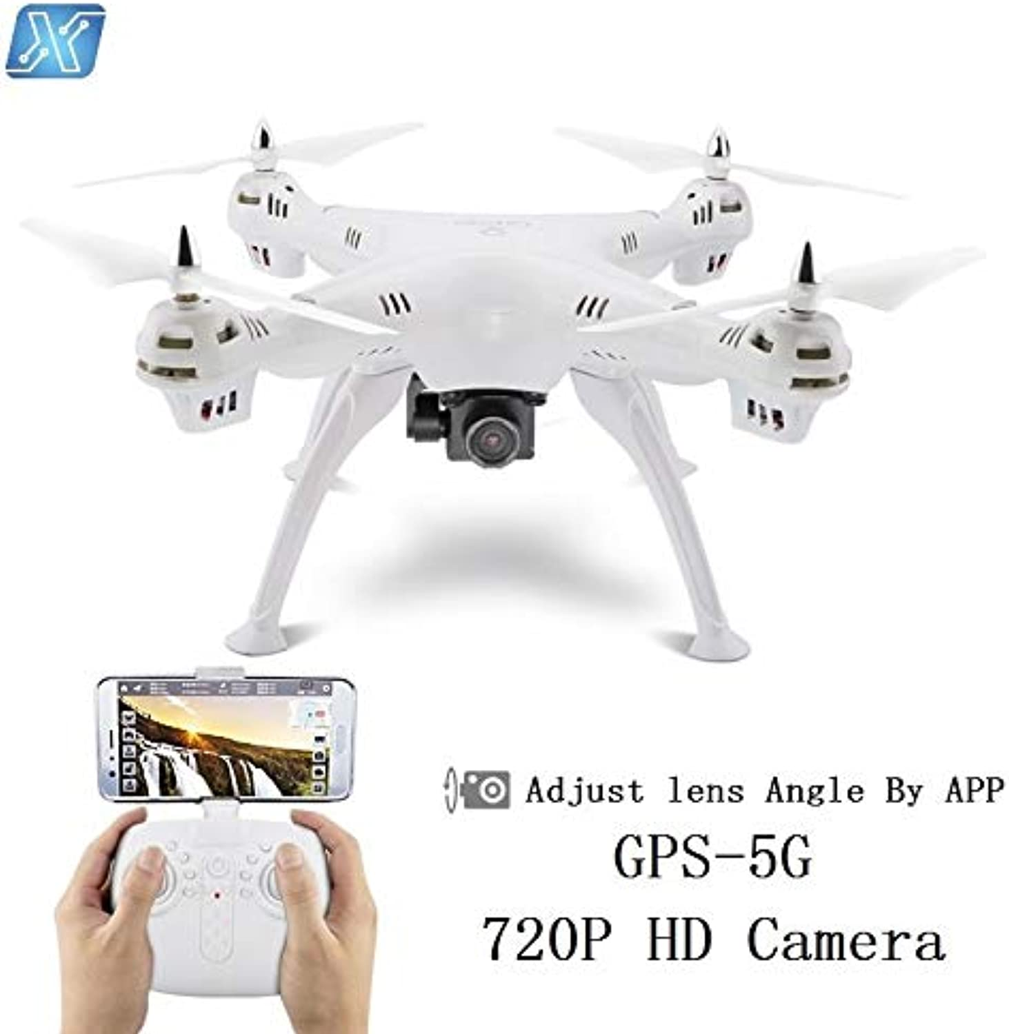 Generic GPS DRON WiFi FPV with 720P 1080P 4K HD Camera or Realtime Follow Me Drone 6Axis Altitude Hold RC Quadcopter Red