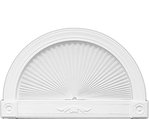 Redi Shade 3607070 Original Arch Light Blocking Pleated Fabric Shade, 72 in x 36 in, White