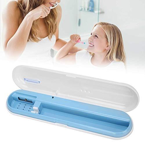 UV Zahnbürsten Desinfektionskoffer, UVC Zahnbürstenkoffer LED Aufbewahrungsbox Reinigung Reise Wiederaufladbarer Zahnbürstenbehälter