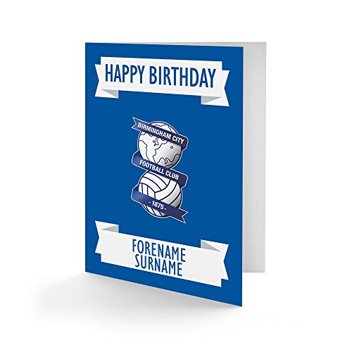 Official Personalised Birmingham City FC Crest Birthday Card