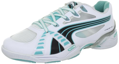 PUMA Damen Accelerate VI WN's Sportschuhe-Indoor, Weiss (White-Black-Pool Blue 04), 40.5 EU