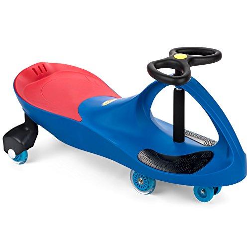 PlaSmart The Original PlasmaCar Inc. – Polyurethane PU Wheels – Blue, Ride...