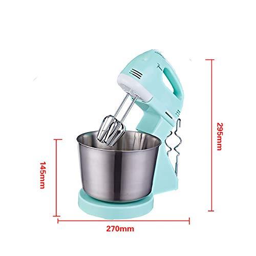 MKXULO Küchenmaschine 1.7L Standmixer Geräuschlos Knetmaschine, mit Doppelten Knethaken, Rührbesen, 7 Speed Settings, Anti-Rutsch-Design, 300W
