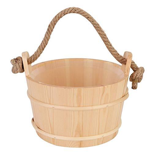 Wifehelper 6L Sauna Eimer Barrel Holz Sauna Zubehör für Spa Dusche Lieferungen Badezimmer Naturholz Material