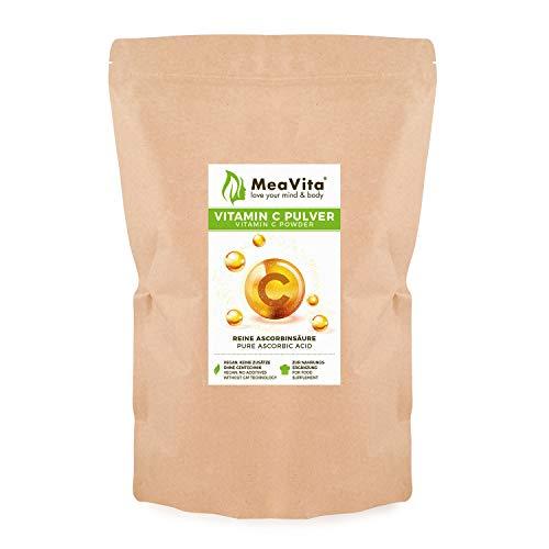 MeaVita Vitamin C Pulver, Ascorbinsäure, 1er Pack (1x 800g) vegan & ohne Zusätze