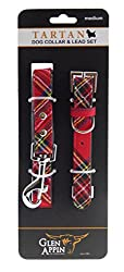 This tartan dog collar and lead set is manufactured from a lovely strong and secure fabric over a man made leather core and secured with high quality bonding and stitching. The lead is lightweight and soft yet very durable for all weather conditions....