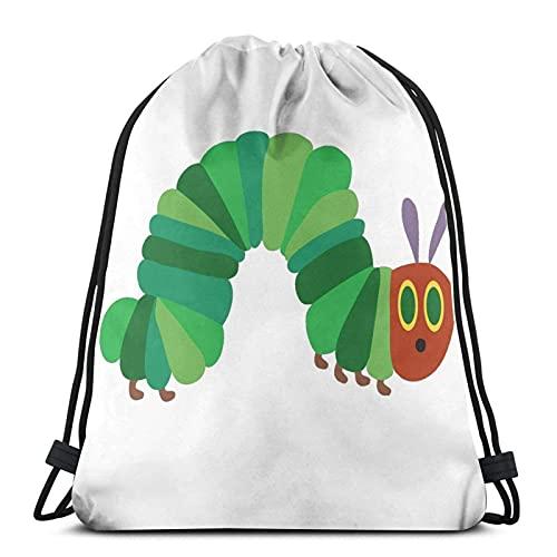 Bolsas con cordón The Very Hungry Caterpillar Unisex Mochila con cordón Bolsa de cuerda Bolsa grande con cordón Mochila de gimnasio a granel