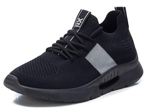 XTI - Zapatilla para Mujer - Cierre con Cordones - Color Negro - Talla 38