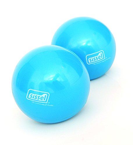 Sissel - Juego de Pelotas tonificadoras para Pilates (2 Unidades) Azul Azul Talla:450g