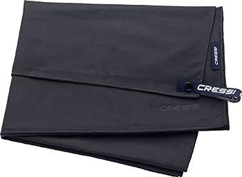 Cressi Sub S.p.A. Microfibre Fast Drying Serviette Sport Adulte Unisexe, Noir, 50x100