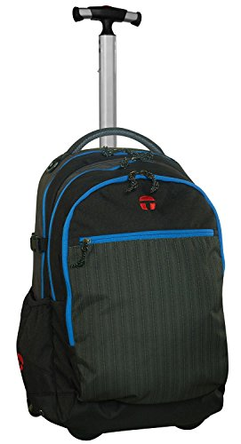 Take It Easy Rucksack Trolley BARCELONA Tweed 491001 schwarz