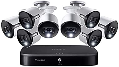 Lorex Smart 5MP HD Active Deterrence Weatherproof Security System, 8 x 5MP Ultra HD Cameras w/Active Deterrence, Color Night, 2TB Security Grade Hard Drive, 8-Channel 4K DVR